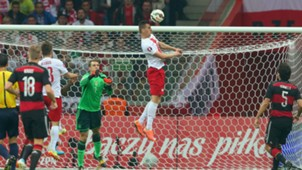 MANUEL NEUER GERMANY ARKADIUSZ MILIK POLAND EC QUALIFIER 10112014