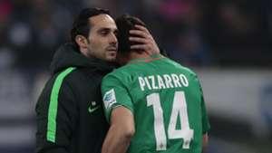 Alexander Nouri Claudio Pizarro Werder Bremen 26112016