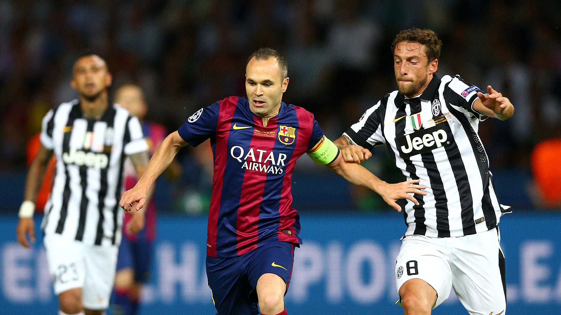 Andres Iniesta Claudio Marchisio FC Barcelona Juventus Turin Champions League 06062015
