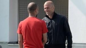ONLY GERMANY Pep Guardiola Zinedine Zidane FC Bayern Munchen 24032015