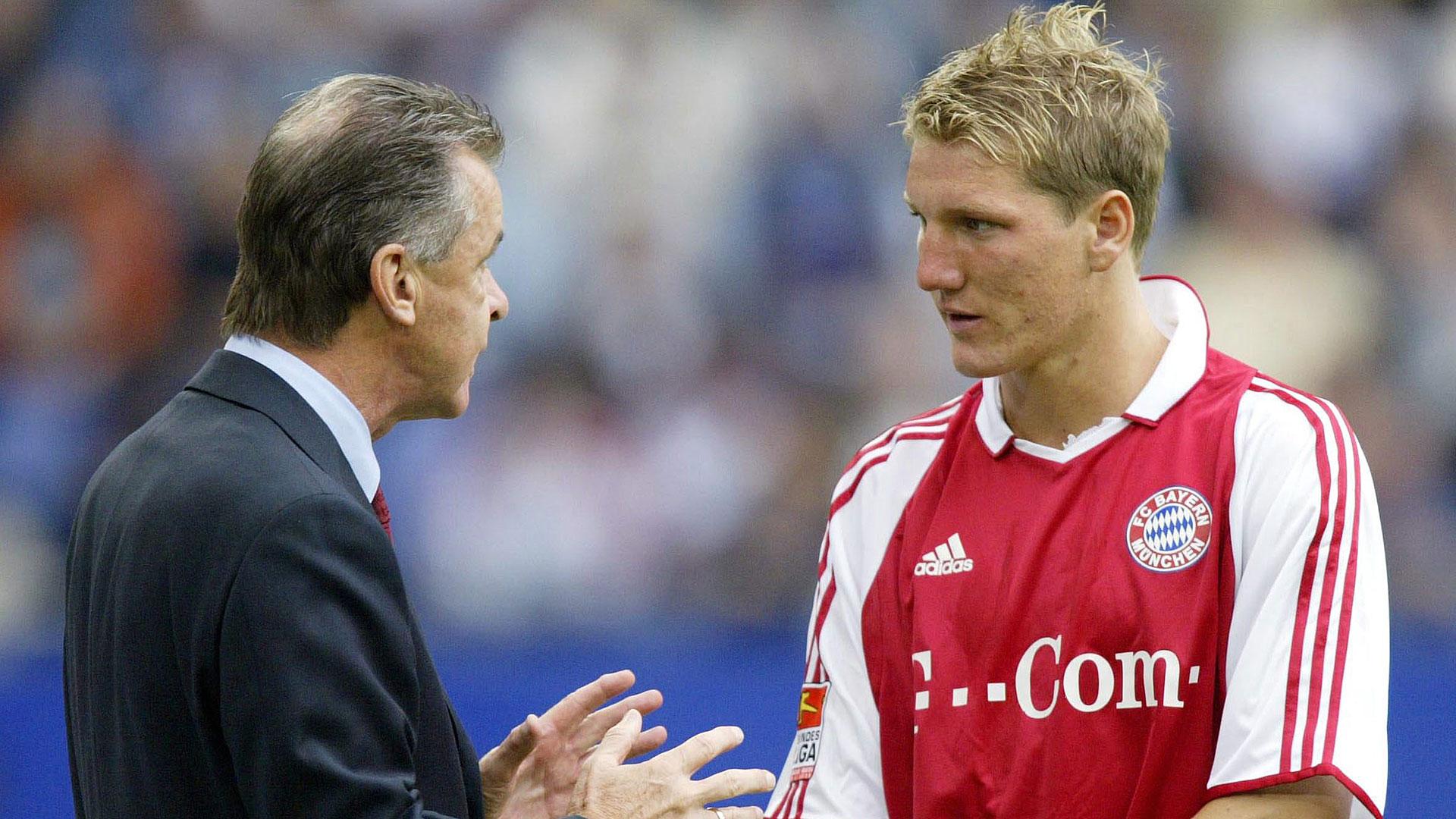 Ottmar Hitzfeld Bastian Schweinsteiger FC Bayern München 24082003