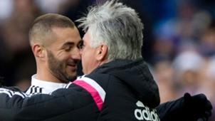 Karim Benzema Carlo Ancelotti Real Madrid Primera Division 31012015