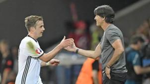 *GER ONLY* Mario Götze Joachim Löw Germany Deutschland DFB