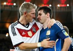BASTIAN SCHWEINSTEIGER GERMANY LIONEL MESSI ARGENTINA 2014 WORLD CUP FINAL 07132014