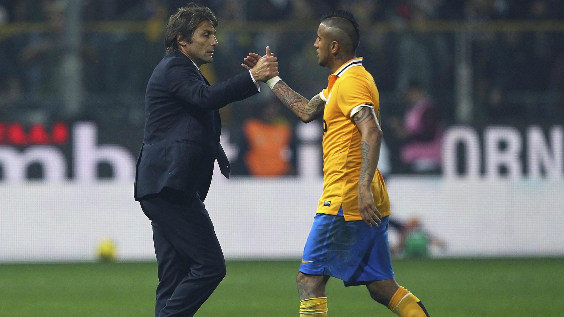 Antonio Conte Arturo Vidal Juventus