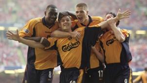 Heskey Owen Gerrard Fowler Liverpool Arsenal FA Cup 05122001