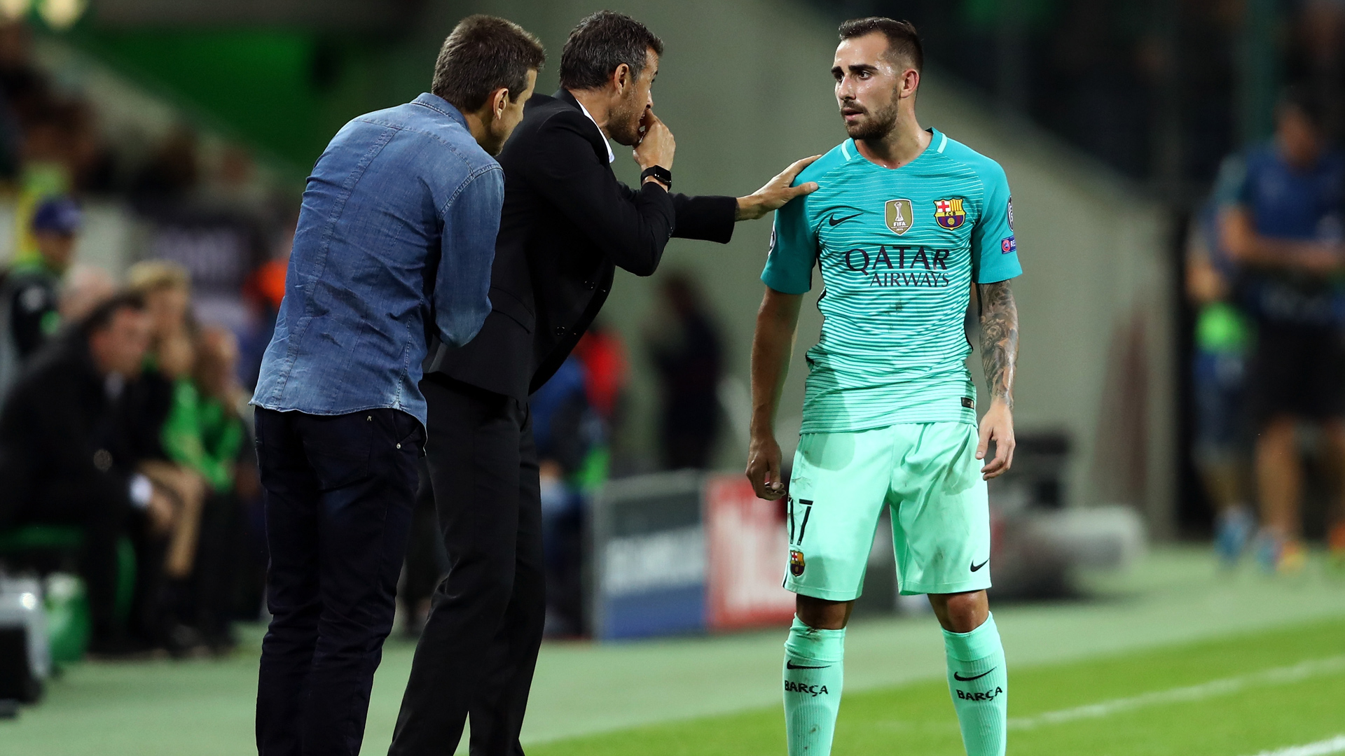 Paco Alcacer Barcelona Champions League 28092016