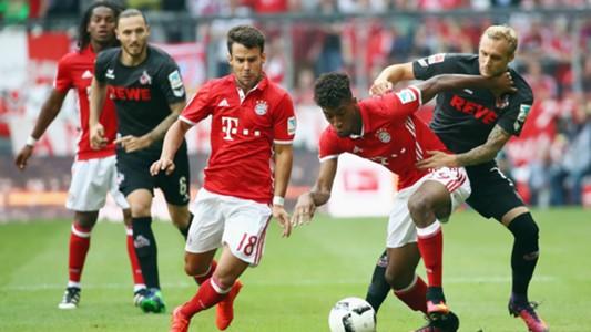 Juan Bernat Kingsley Coman Marcel Risse Bayern Munchen 1 FC Koln Bundesliga 01102016