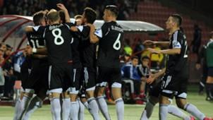 Albania cleebrates against Armenia EC Qualification 11102015