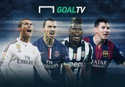 Goal TV Logo Ronaldo Ibrahimovic Pogba Messi