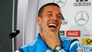 Lukas Podolski Germany - DFB Training & Press Conference 11112014