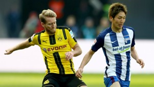 Andre Schürrle Genki Haraguchi Borussia Dortmund Hertha BSC