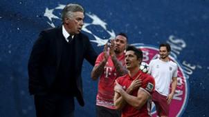 GFX Bayern Ancelotti Hummels Boateng vor REAL