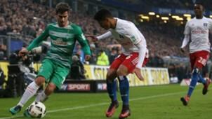 Douglas Santos Fin Bartels Hamburger SV Werder Bremen Bundesliga 26112016