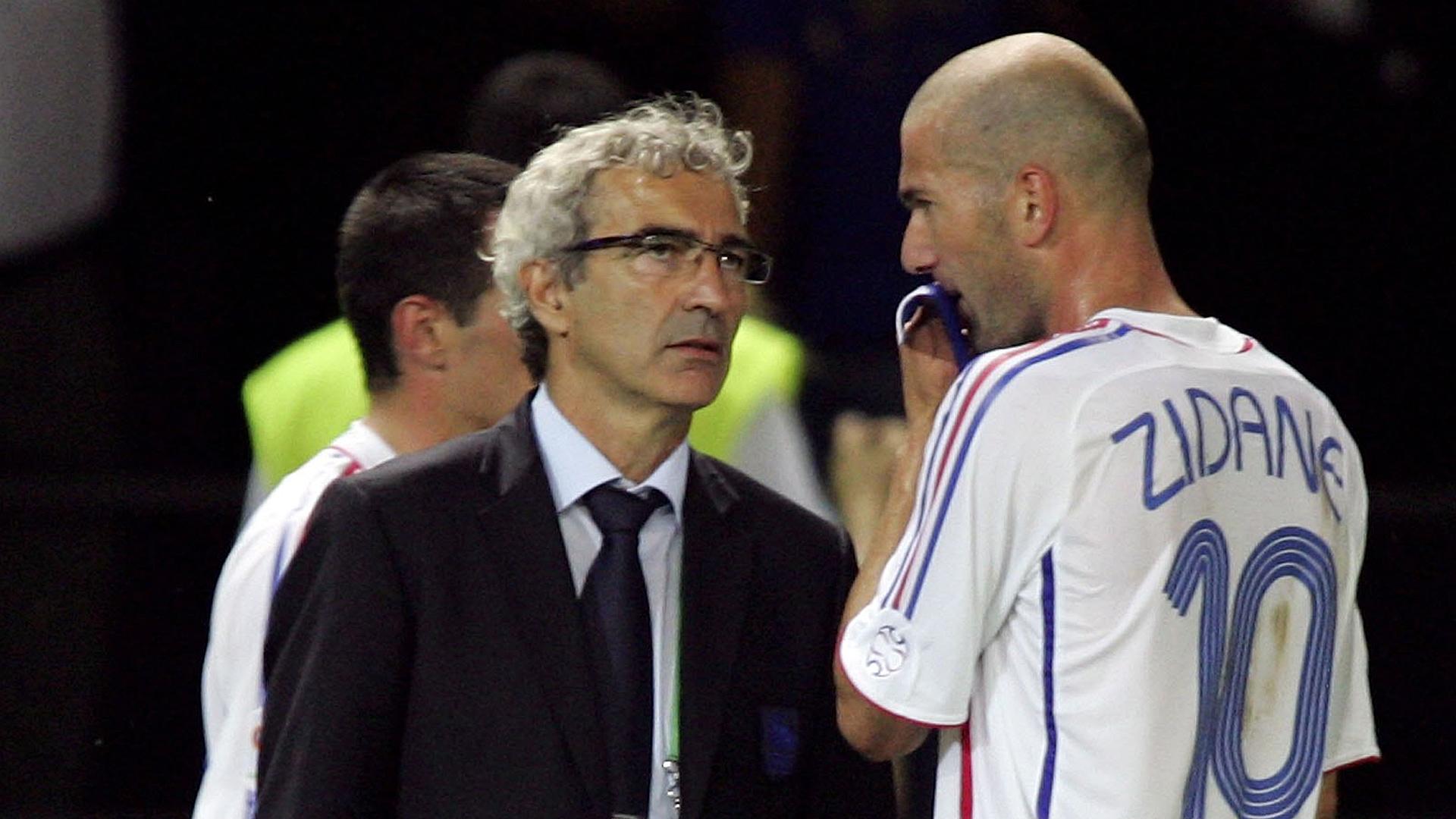Raymond Domenech Zinedine Zidane France 07092015