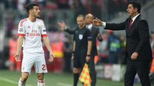 Coach Rui Vitoria Striker Pizzi Benfica Champions League against Bayern München 05042016