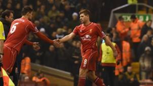 Steven Gerrard Dejan Lovren FC Liverpool 02102015