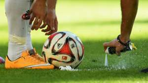 FREE KICK SPRAY GERMAN BUNDESLIGA 10182014