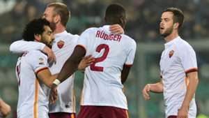 Mohamed Salah Antonio Rüdiger Jubel SASSUOLO AS Roma Serie A TIM 02.02.2016