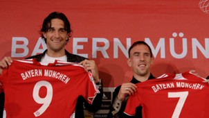 Luca Toni, Franck Ribery 06072007