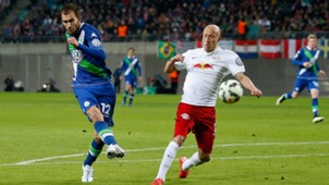 Bas Dost VfL Wolfsburg Tim Sebastian RB Leipzig DFB Pokal 03042015