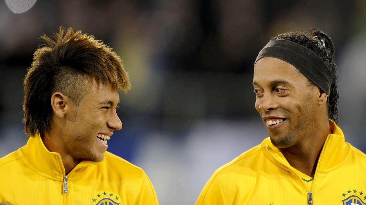 Neymar Ronaldinho Brasilien 02282012