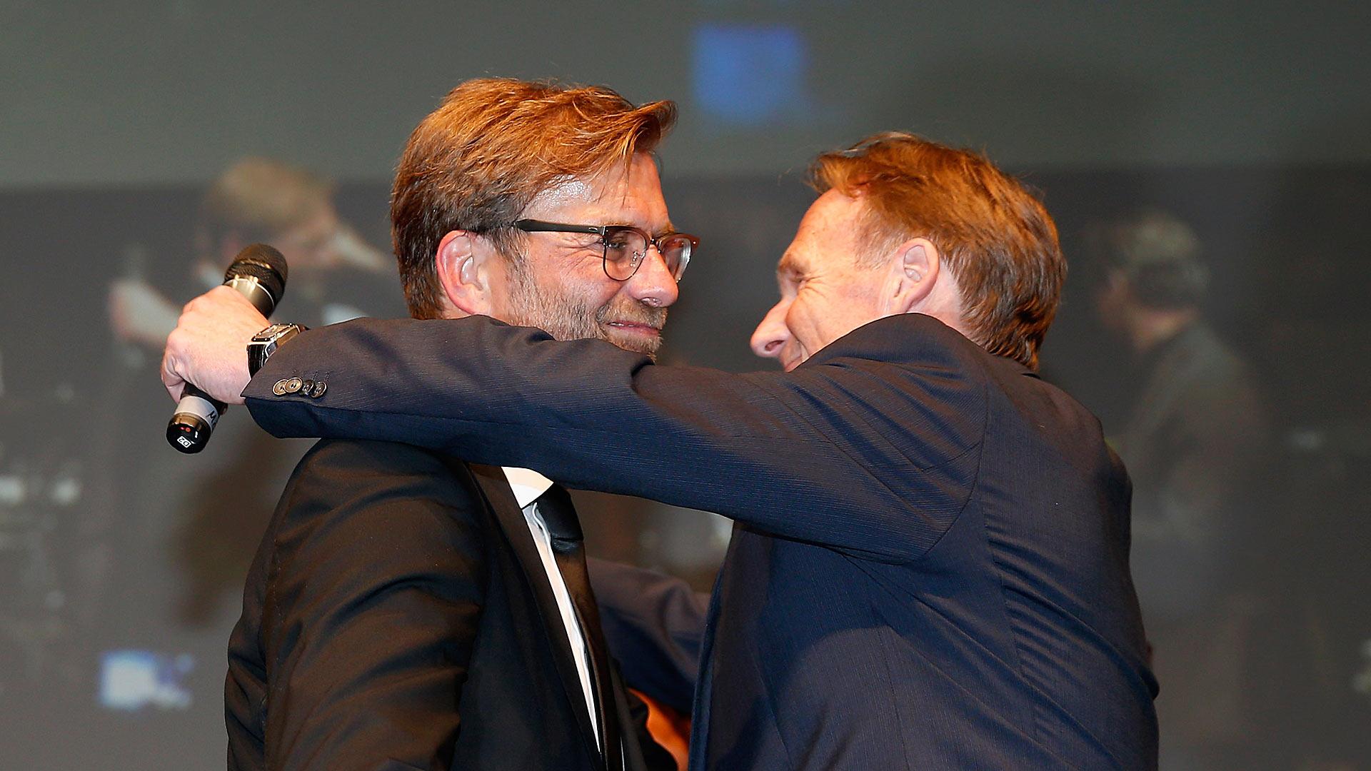 Jürgen Klopp Jurgen Klopp Hans-Joachim Watzke Borussia Dortmund DFB-Pokal 3052015