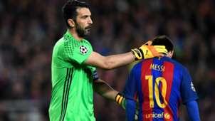Gianluigi Buffon Lionel Messi Barcelona Juventus Champions League 19042017