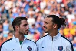 Kevin Trapp Zlatan Ibrahimovic Paris Saint-Germain PSG 25072015