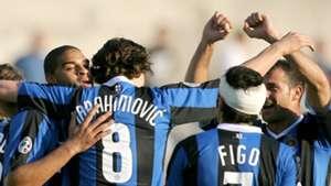 Adriano Zlatan Ibrahimovic Luis Figo Inter Milano 18032007