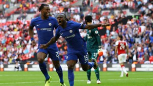 Victor Moses, Batshuayi, Community Shield, Arsenal-Chelsea, 06082017
