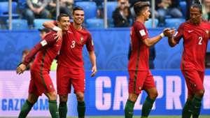 Cristiano Ronaldo Pepe Andre Silva Portugal New Zealand Neuseeland 24062017
