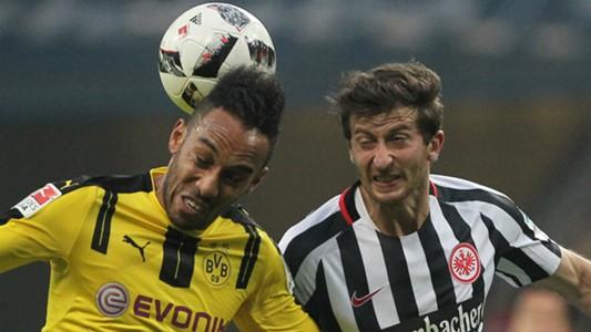 David Abraham Pierre Emerick Aubameyang Eintracht Frankfurt Borussia Dortmund Bundesliga 26112016