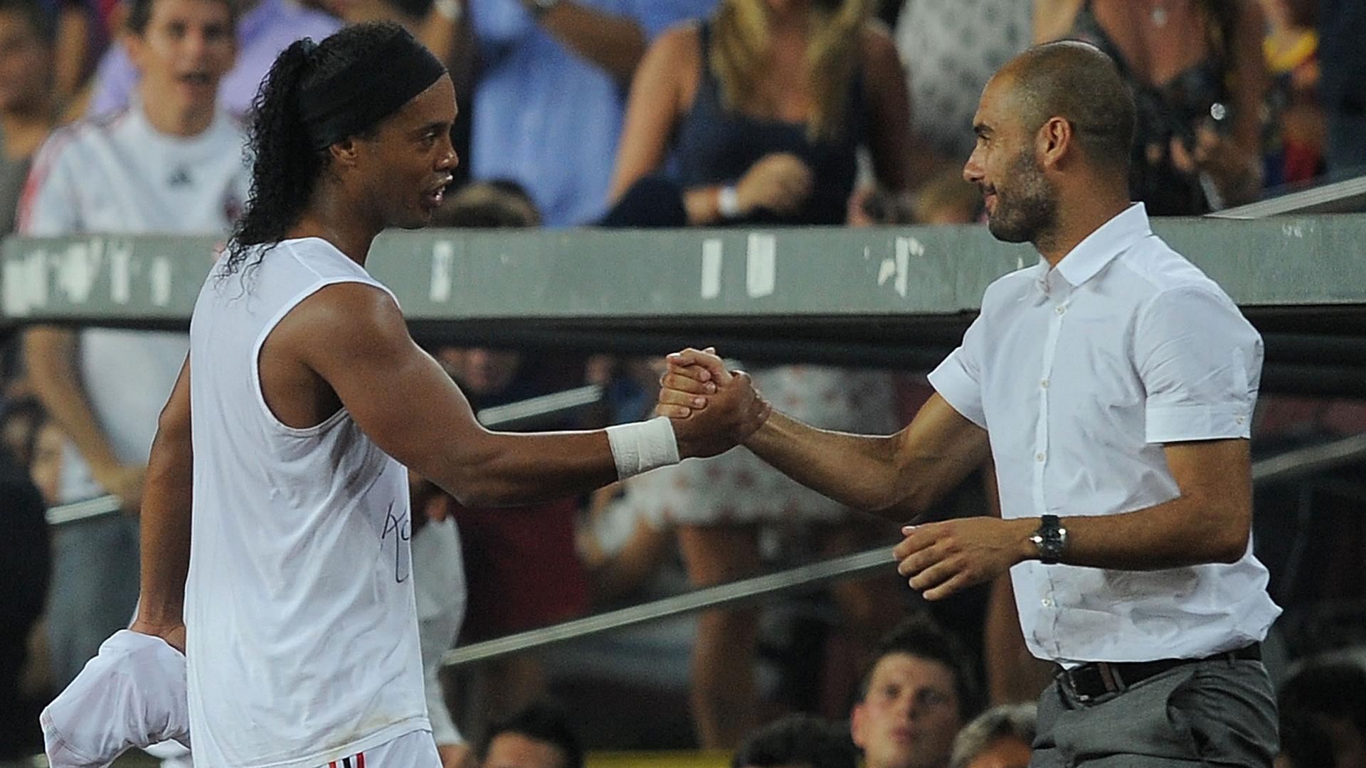Ronaldinho Pep Guardiola AC Milan FC Barcelona 08252010