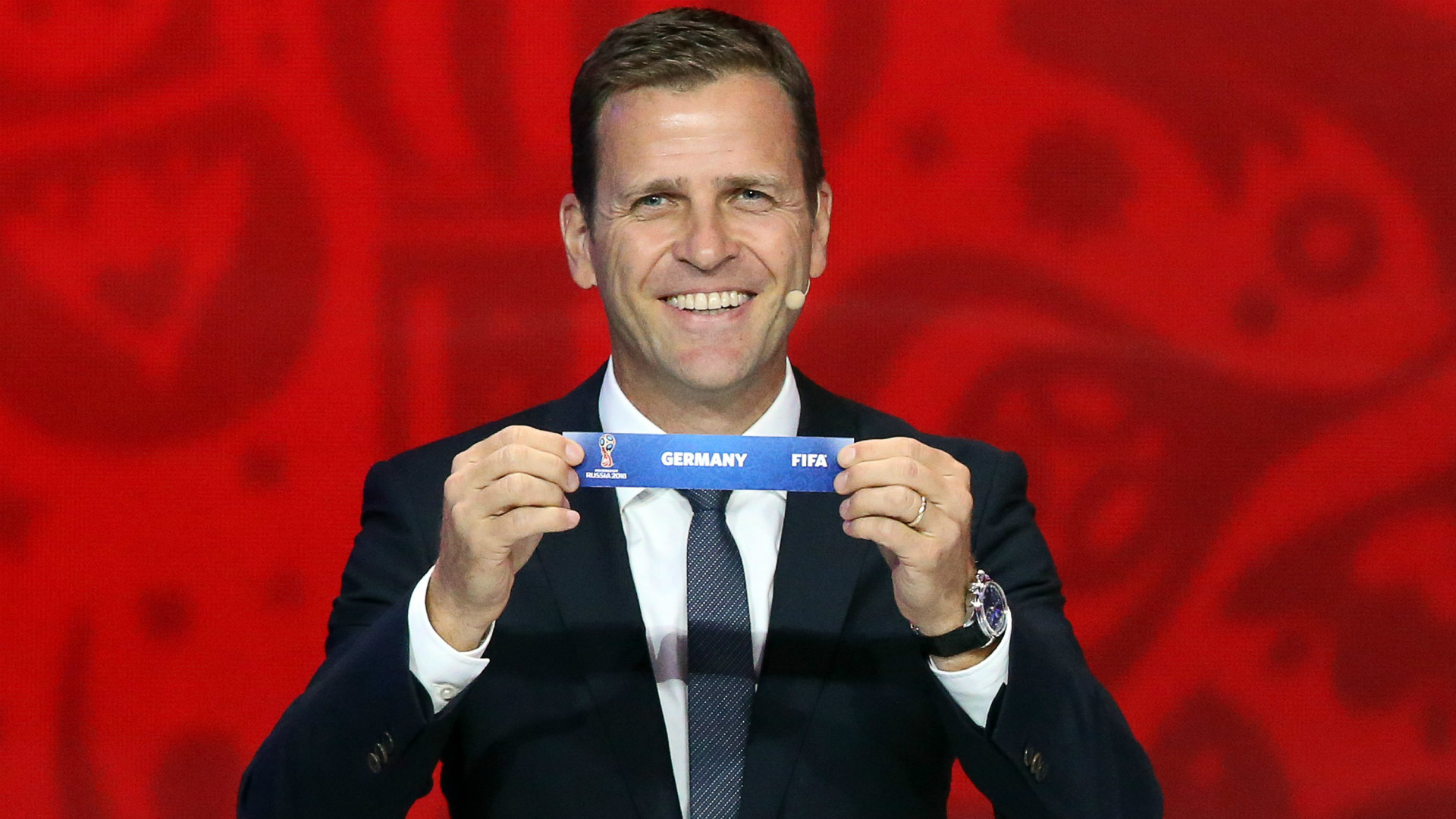 Oliver Bierhoff FIFA World Cup Qualification Draw