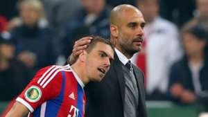 Lahm Guardiola FC Bayern 28042015
