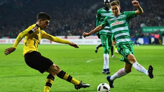 Florian Kainz (r.) Christian Pulisic (l.) Werder Bremen Borussia Dortmund