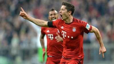 Robert Lewandowski FC Bayern Munchen VfL Wolfsburg Bundesliga 22092015