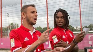 Rafinha Renato Sanches Bayern München 10082016