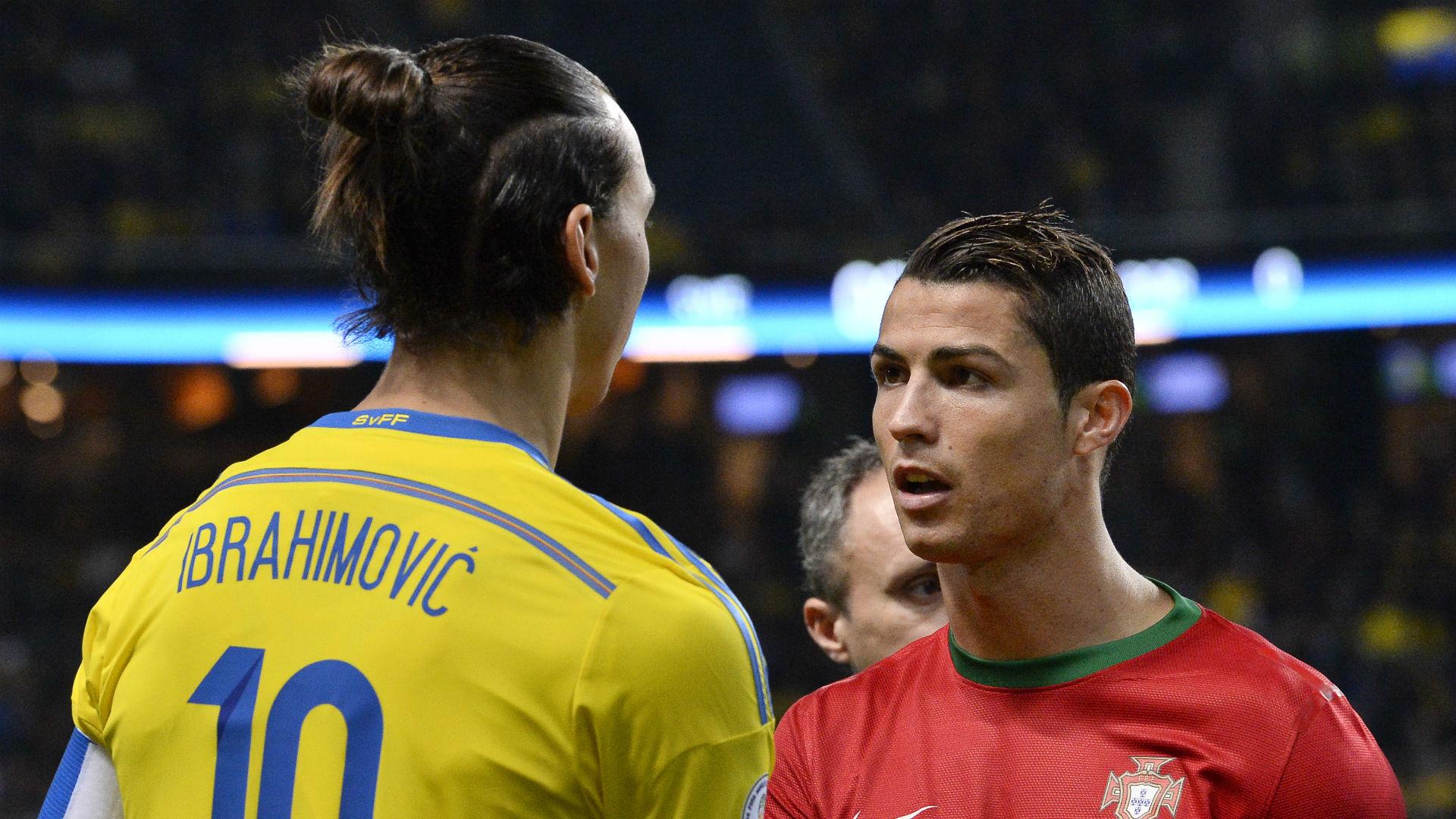 Zlatan Ibrahimovic Cristiano Ronaldo Sweden Portugal 19112013