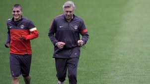Marco Verratti Carlo Ancelotti Paris Saint-Germain 10022012