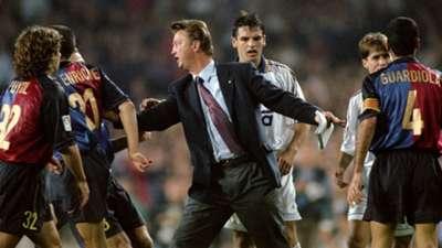 Louis van Gaal Carles Puyol Luis Enrique Pep Guardiola FC Barcelona 13101999