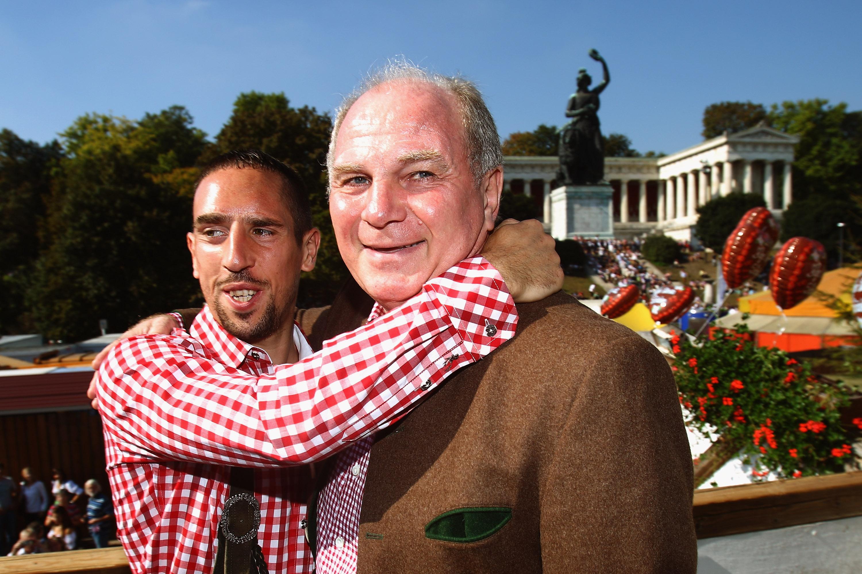 *NO GALLERY* Franck Ribery Uli Hoeneß FC Bayern München