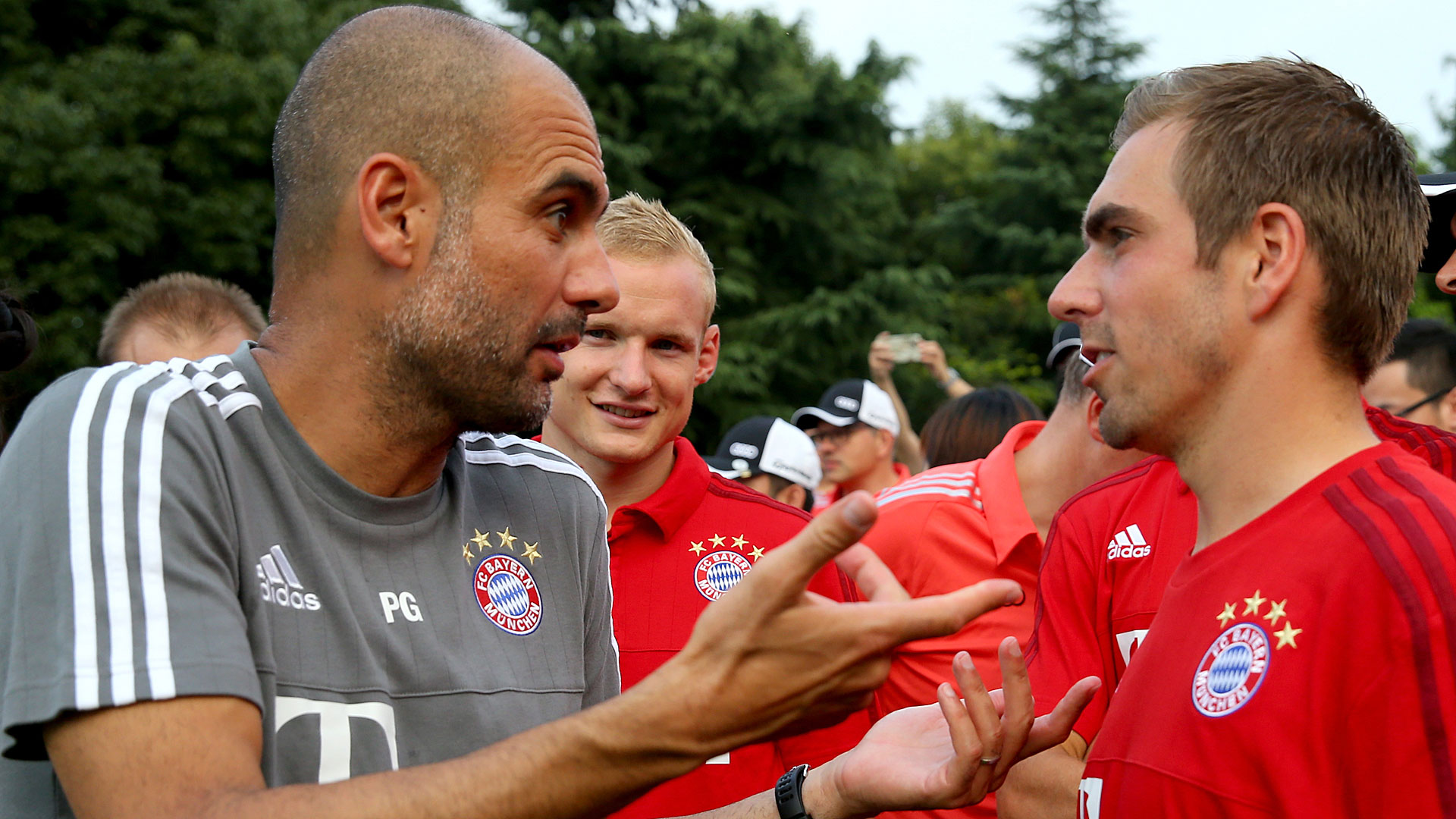 Pep Guardiola Philipp Lahm Bayern München Bundesliga 20072015