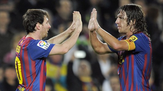 Lionel Messi Carles Puyol FC Barcelona 11192011