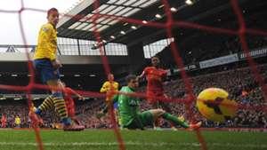 Raheem Sterling Liverpool Koscielny Sczesny Arsenal 02082014