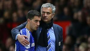 Eden Hazard Jose Mourinho FC Chelsea Manchester United Premier League 10262015