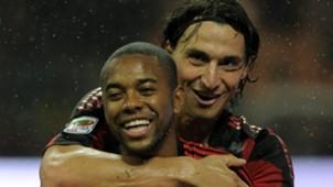 Robinho Zlatan Ibrahimovic AC Milan 16102010