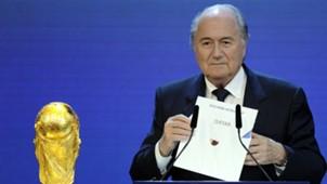 FIFA World Cup WM Qatar Katar Sepp Blatter 02122010