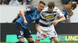 Sandro Wagner Tobias Strobl 1899 Hoffenheim Borussia Monchengladbach Bundesliga 15042017